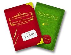 Cover of Harry Potter Schoolbooks: Quidditch Through the Ages and Fantastic Beasts and Where to Find Them
