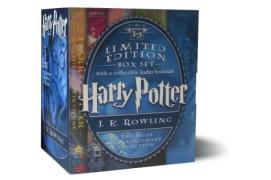 Cover of Harry Potter Hardcover Box Set with Leather Bookmark (Books 1-5)